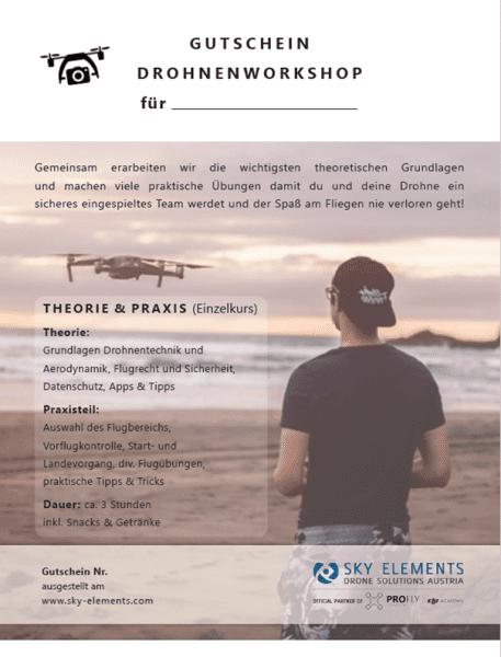 Gutschein Junior Drohnenworkshop Kleingruppe